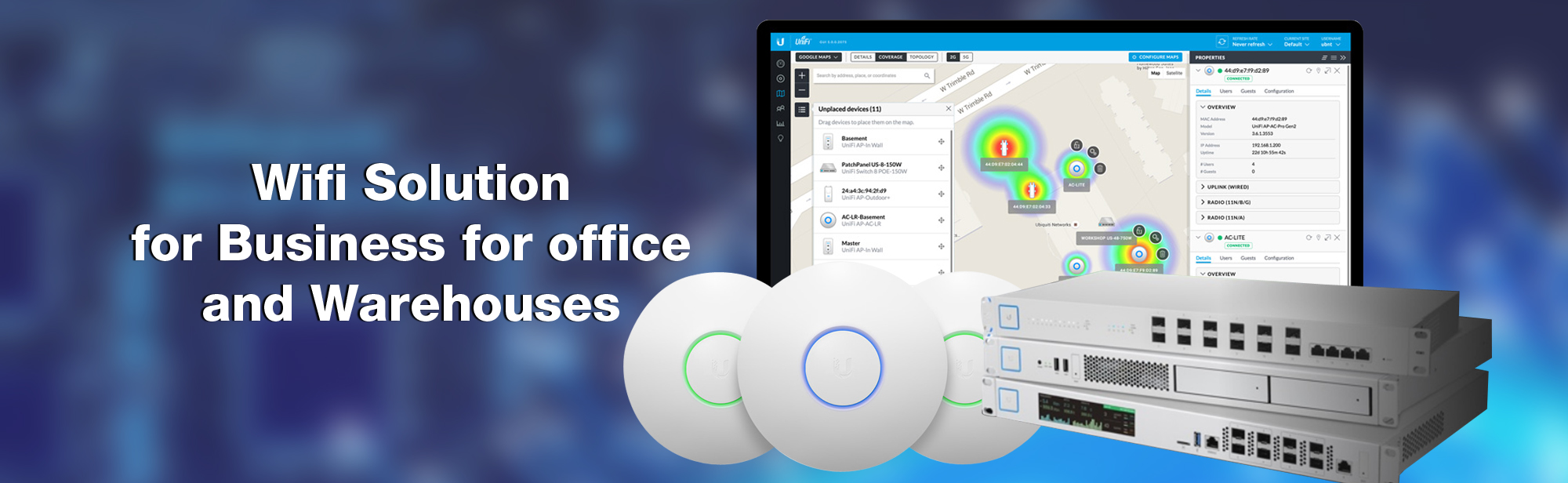 Wifi Solution for Business for office and Warehouses
